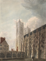View of the south front of Westminster Abbey